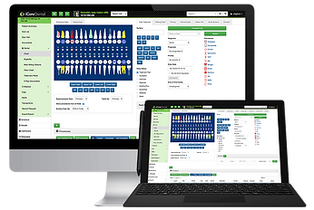 iCoreConnect iCoreDental cloud practice management system software for dental practice displayed on a screen accessible anywhere