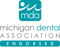 Logo for Michigan Dental Assocation MDA endorsement of iCoreConnect