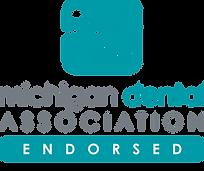 Logo for Michigan Dental Assocation MDA endorsement of iCoreConnect