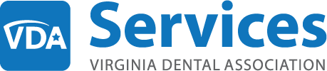 Logo for Virginia Dental Assocation VDA Services endorsement of iCoreConnect