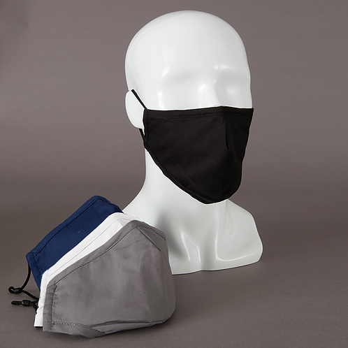 Tailored Washable Cotton Mask with Adjustable Straps