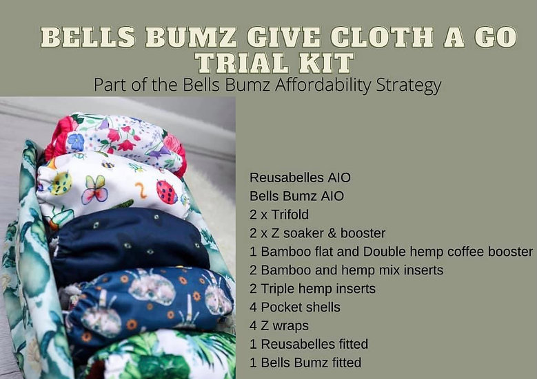 Bells Bumz Give Cloth A Go Trial Kit