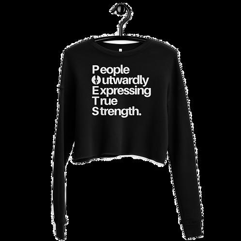 POETS™ Acronym Crop Sweatshirt