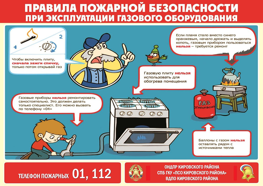 Пожарная безопасность при работе с газовым оборудованием