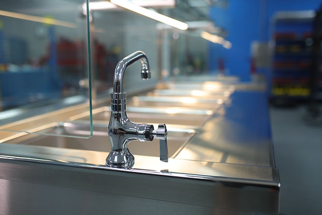 Kitchen Sink Faucet Cafeteria Counter Master Fabricators Houston Texas Serving Line Counter Specialists