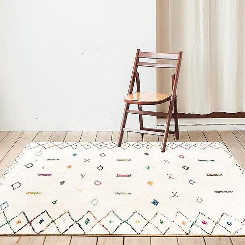 Moroccan Berber Style Colorful Plush Carpet