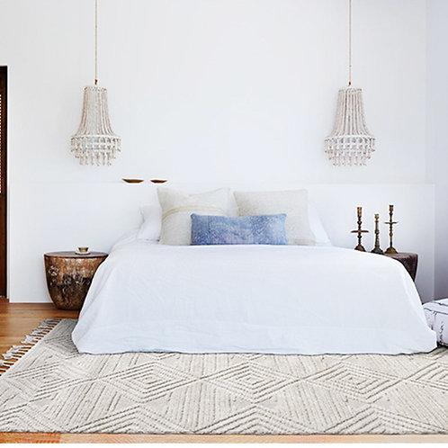 Moroccan Hand Woven Kilim Carpet Geometric Area Rug