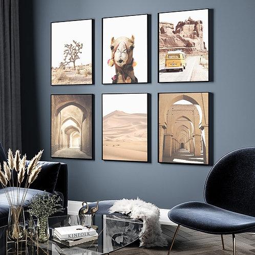 Moroccan Desert Canvas Posters