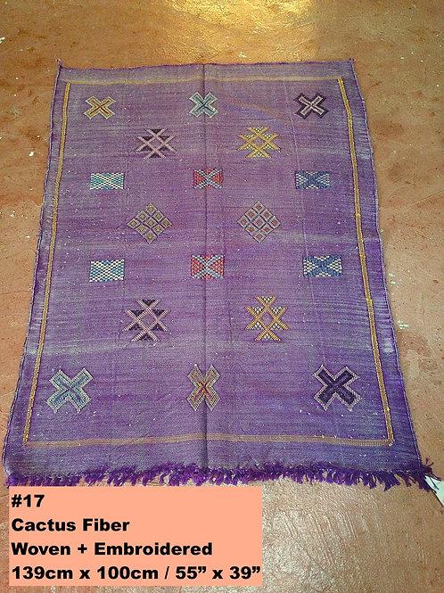 Violet Handmade Cactus Fiber Carpet - Animal Free, Sustainable Materials
