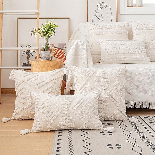 Tufted Moroccan Cushion Cover 45x45cm/30x50cm