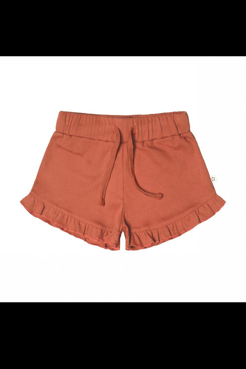 Rib terra ruffle short | Yourwishes