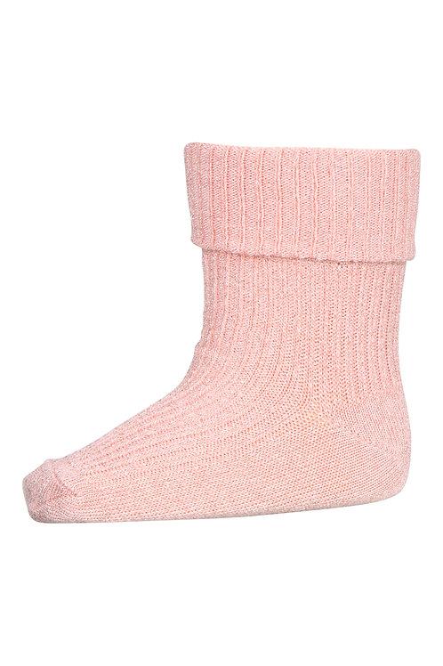 Babysokje glitter pink | MP Denmark