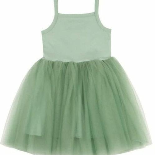 Prachtig jurkje met tule rokje in groen | Bob en Blossom