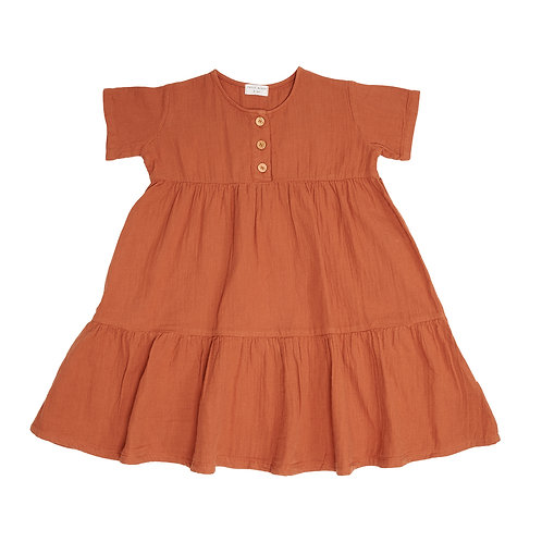 Billie button dress | Petit Blush