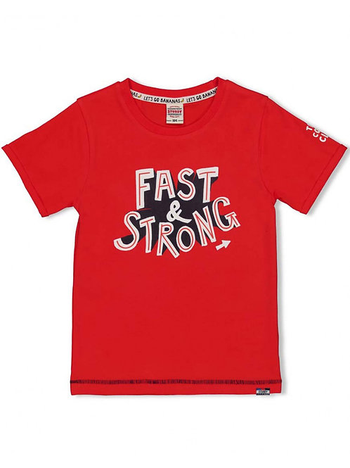 Playground T-shirt Fast Rood | Studry