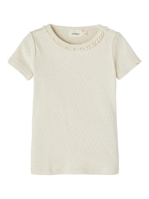 Sluitend t-shirt korte mouw | Lil'Atelier
