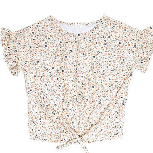 Knot shirt floral | Petit Blush