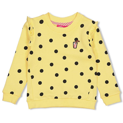 Sweater aop geel | Jubel