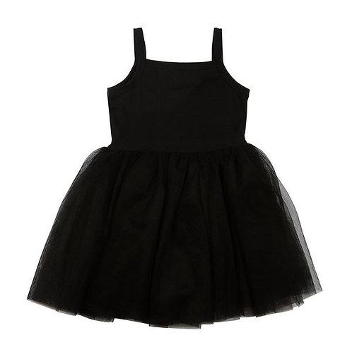 Prachtig jurkje met tule rokje in zwart