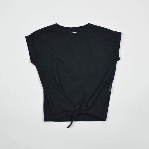 Knotted t-shirt black | Nolabels