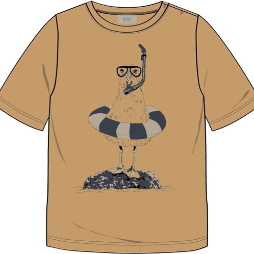T-shirt Seagull | Wheat