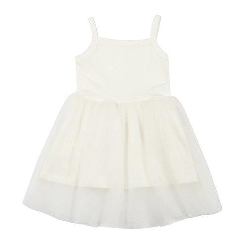 Prachtig jurkje met tule rokje in wit