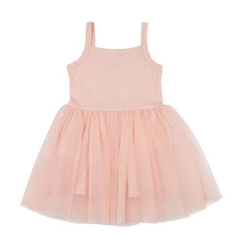 Prachtig jurkje met tule rokje in roze