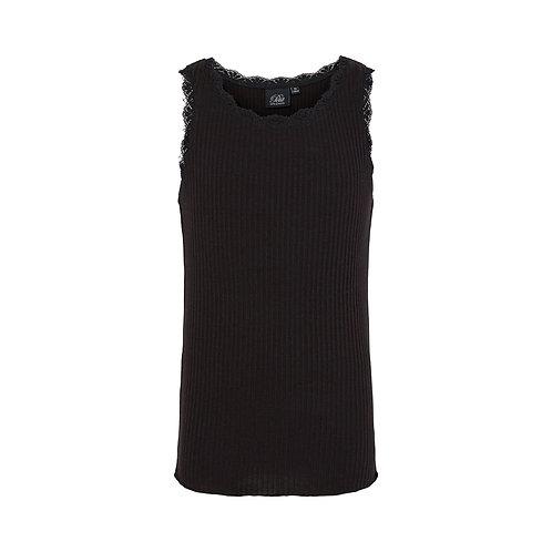 Top met kantje in black  | Sofie Schnoor Girls