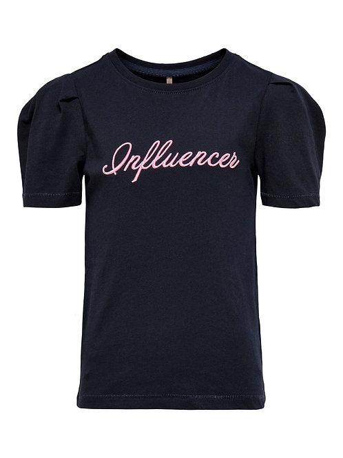 zwart t-shirt met pofmouwtjes | Kids Only