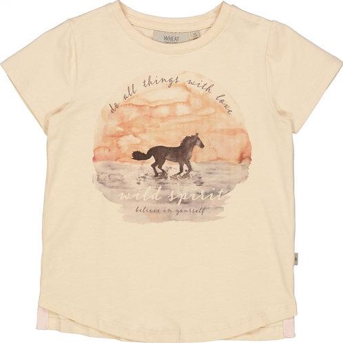 T-shirt Sunset Horse   Wheat
