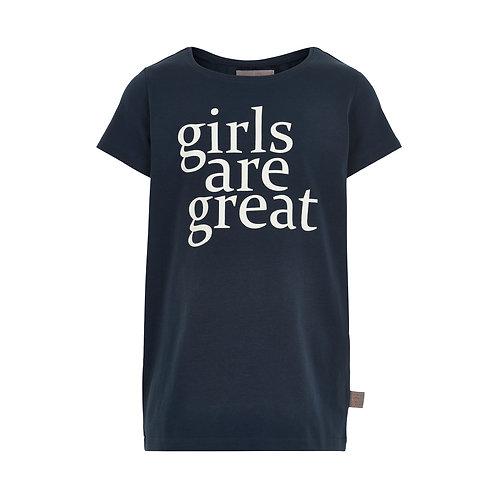 T-shirt donker blauw | Creamie