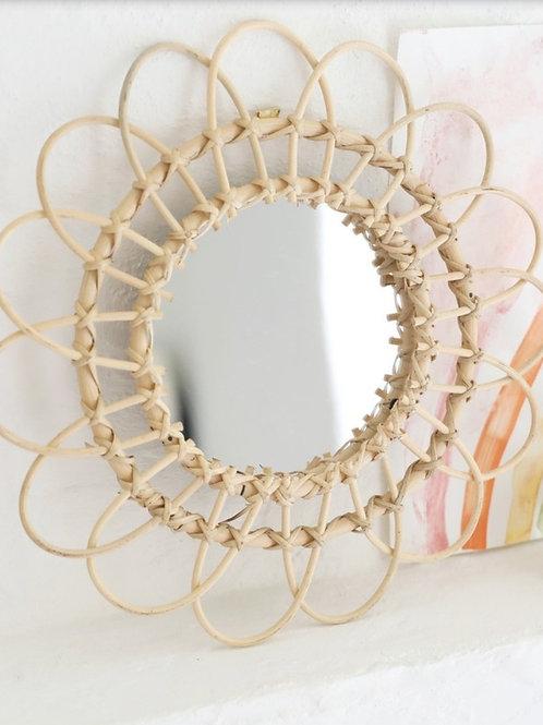 Rotan spiegel 32 cm