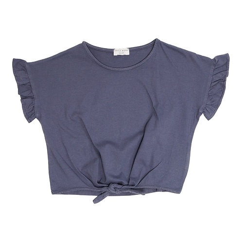 Knot shirt blue | Petit Blush