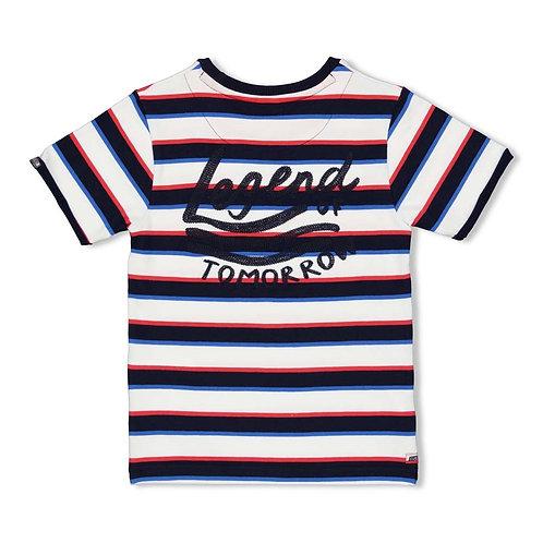 Playground T-shirt streep Marine | Sturdy