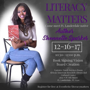 Shennette Sparkes Literacy Matters Event