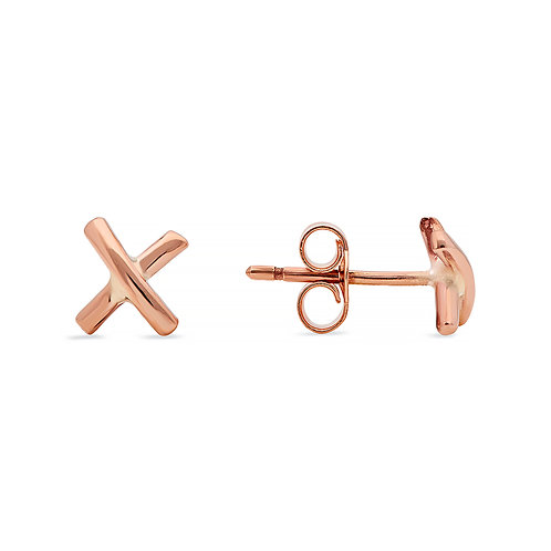 9ct Rose Gold Kiss studs