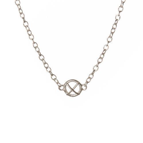Small silver Kiss Hug pendant x1