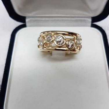 Remodel job using customers old cut diamonds