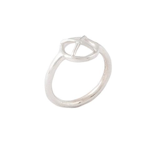 Silver Kiss Hug ring