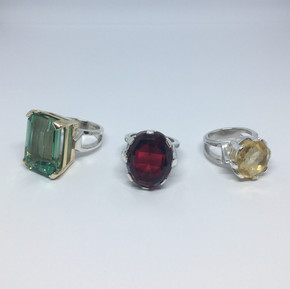 Just some of the rings available within the Leila Collection