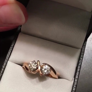 Finished 18ct rose gold ring from remodelling job
