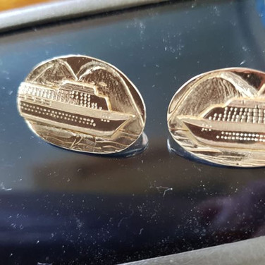 Cruiseship cufflinks