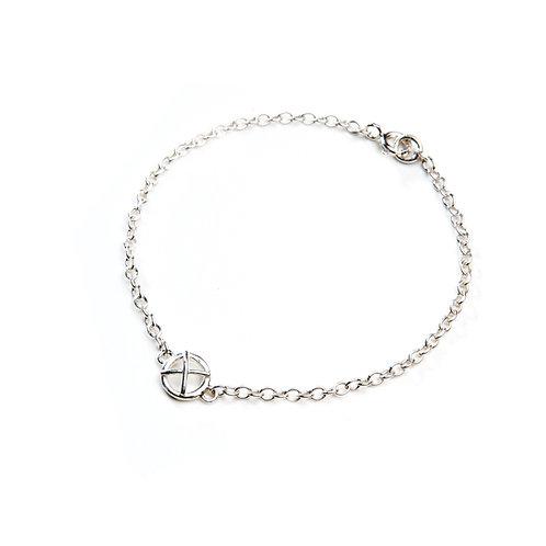 Small silver Kiss hug bracelet x1