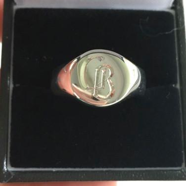 18th birthday 9ct white gold signet ring