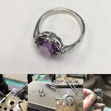 Building a bespoke ring.