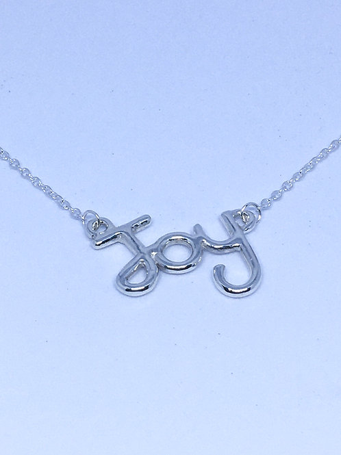 Silver Joy pendant on trace chain