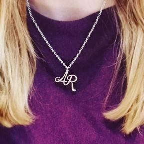 Bespoke initials pendant