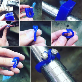 Process of making a wax ring for casting
