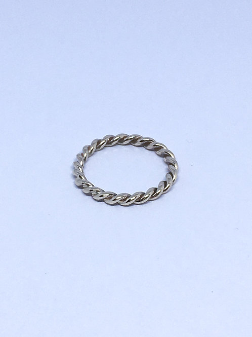9ct yellow gold rope ring