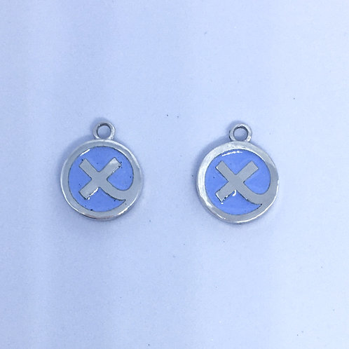 Lupin blue Kiss in a Hug earring charms